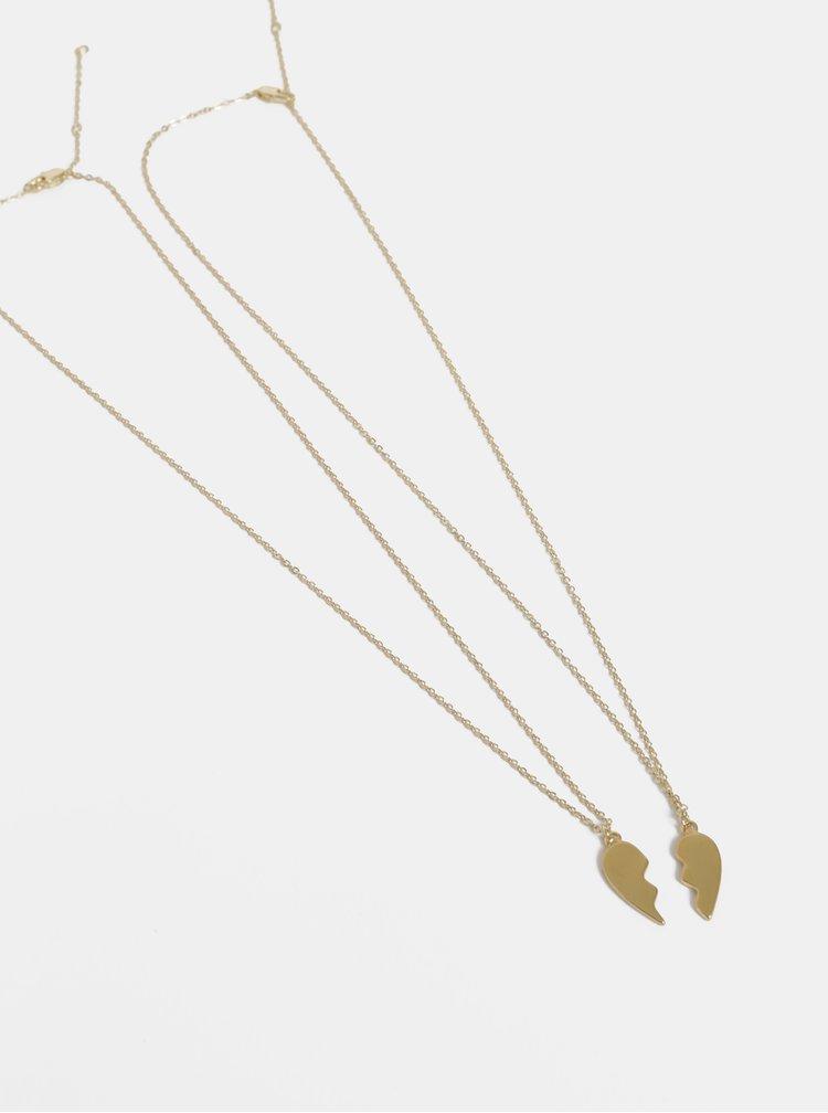 Sada dvou řetízků ve zlaté barvě Pieces Heart