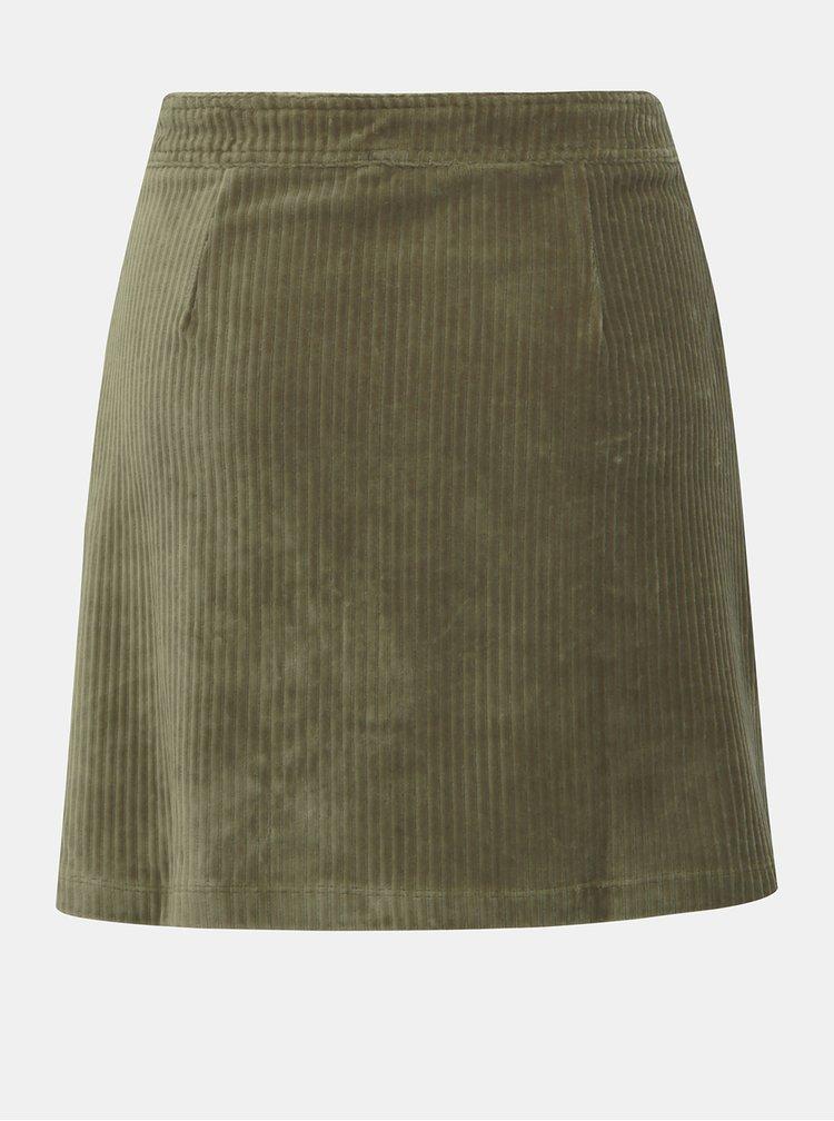 Kaki menčestrová sukňa ONLY Fenja