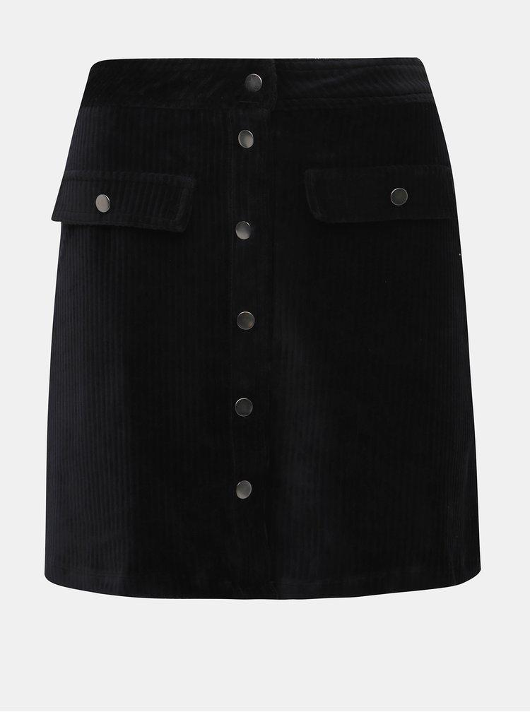 Černá manšestrová sukně ONLY Fenja