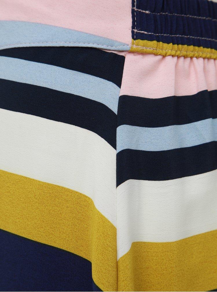 Žluto-modrá pruhovaná midi sukně ONLY Donna