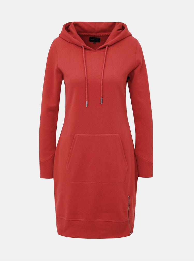 Červené mikinové šaty so zipsom ONLY Bree