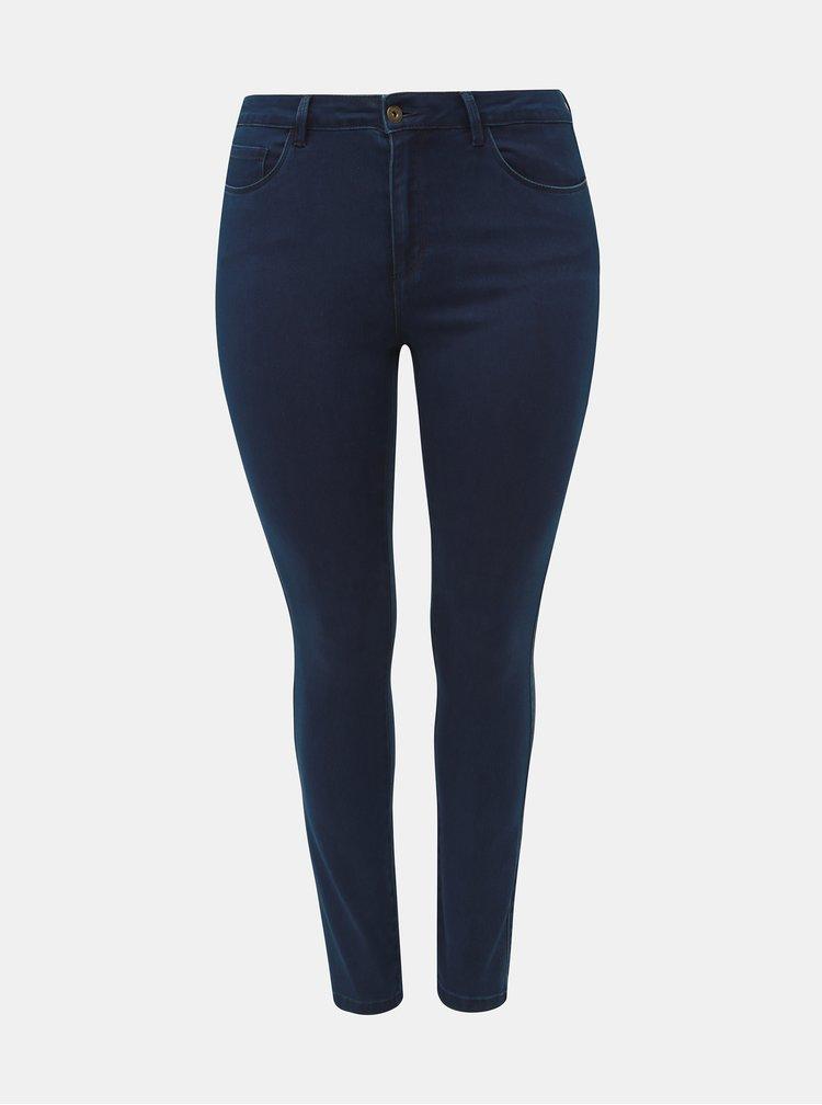 Tmavě modré skinny fit džíny ONLY CARMAKOMA Augusta