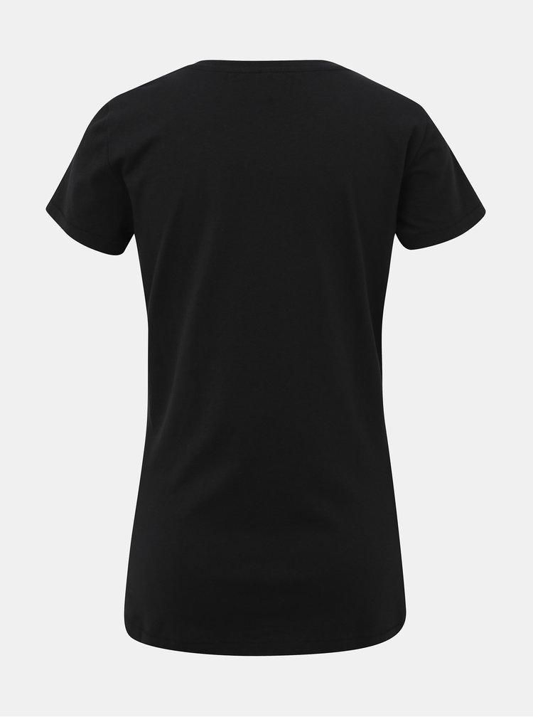 Čierne tričko s potlačou ONLY Madelyn