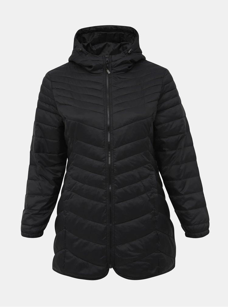Čierna zimná prešívaná bunda ONLY CARMAKOMA Demi