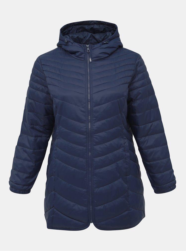 Modrá zimná prešívaná bunda ONLY CARMAKOMA Demi