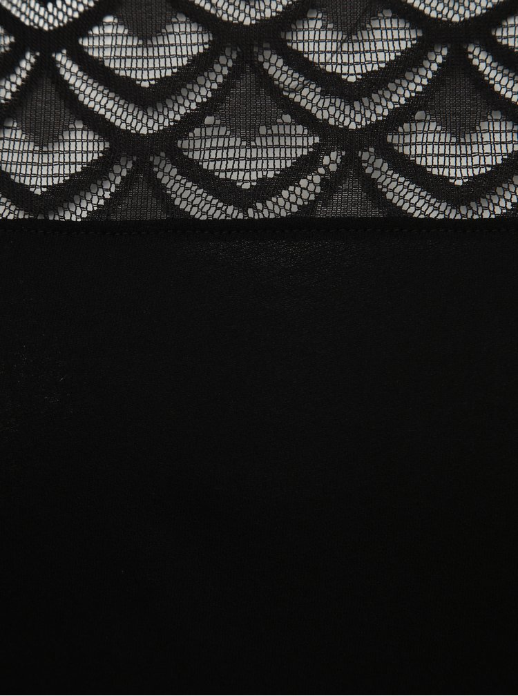 Čierne tričko ONLY CARMAKOMA Flake