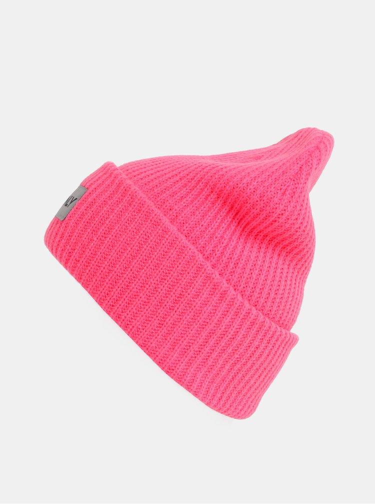 Neonově růžová čepice ONLY Petunia