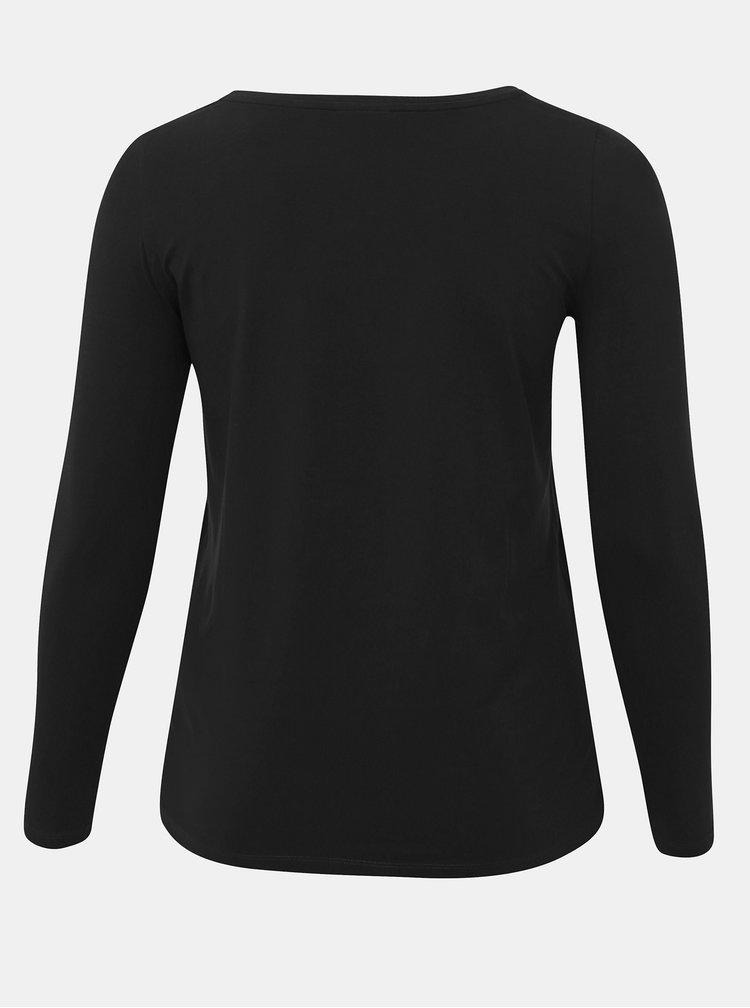Černé basic tričko ONLY CARMAKOMA Night
