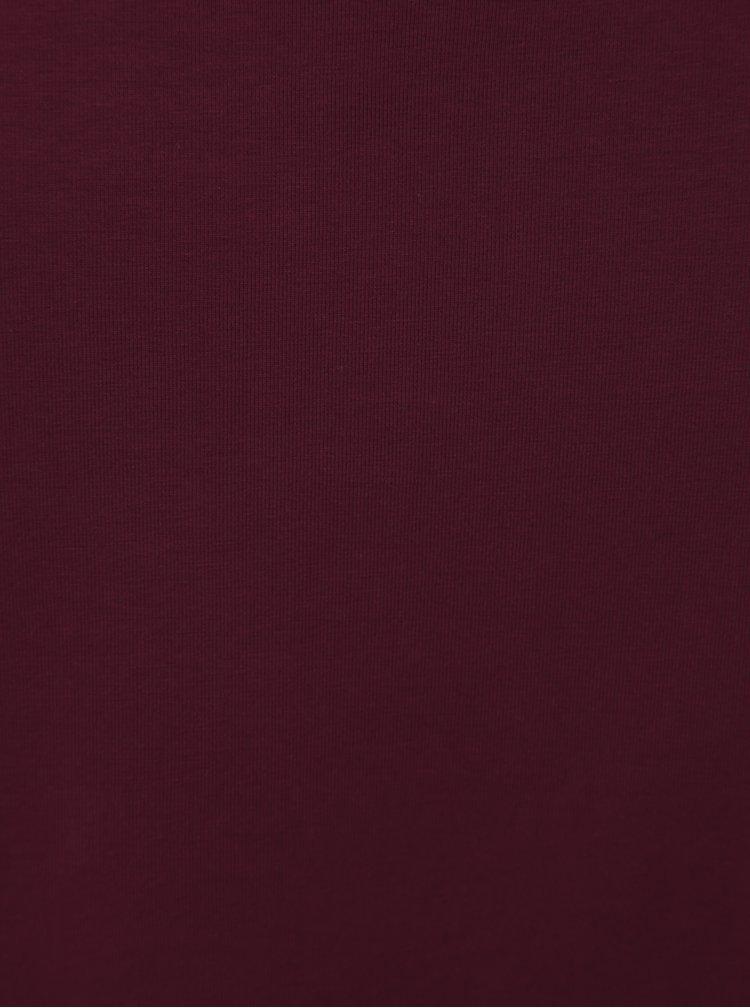 Vínové basic tričko ONLY CARMAKOMA Night