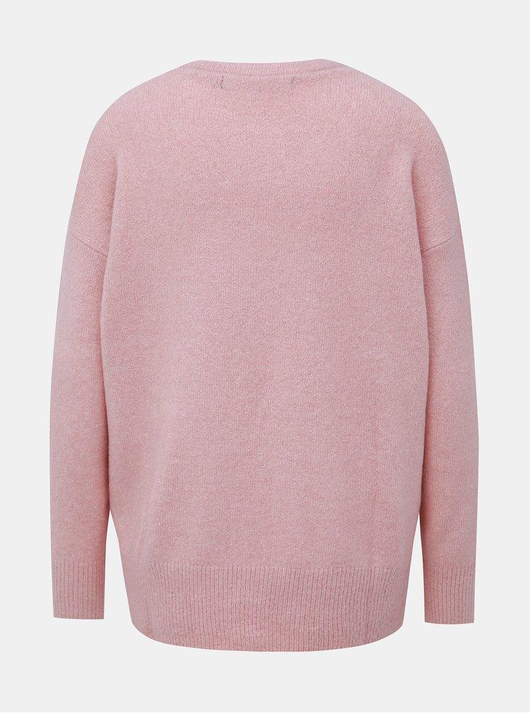 Růžový svetr VERO MODA Mure