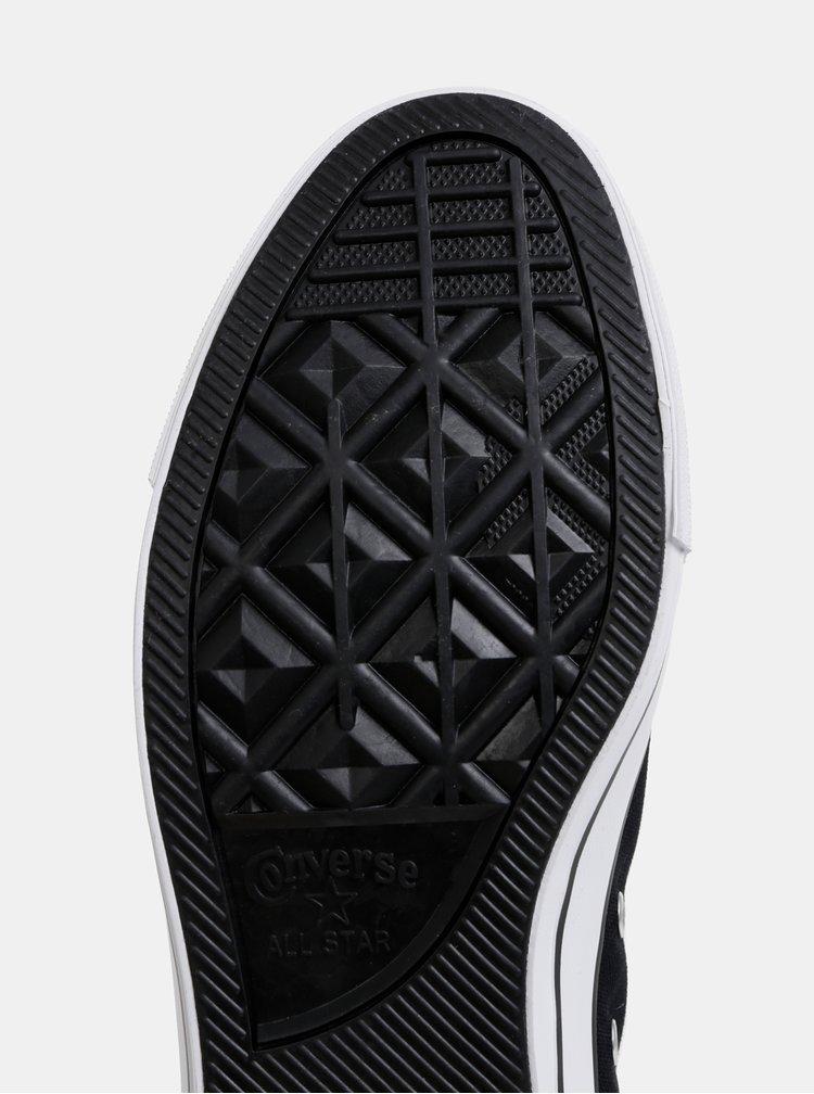 Čierne pánske tenisky s potlačou Converse Chuck Taylor
