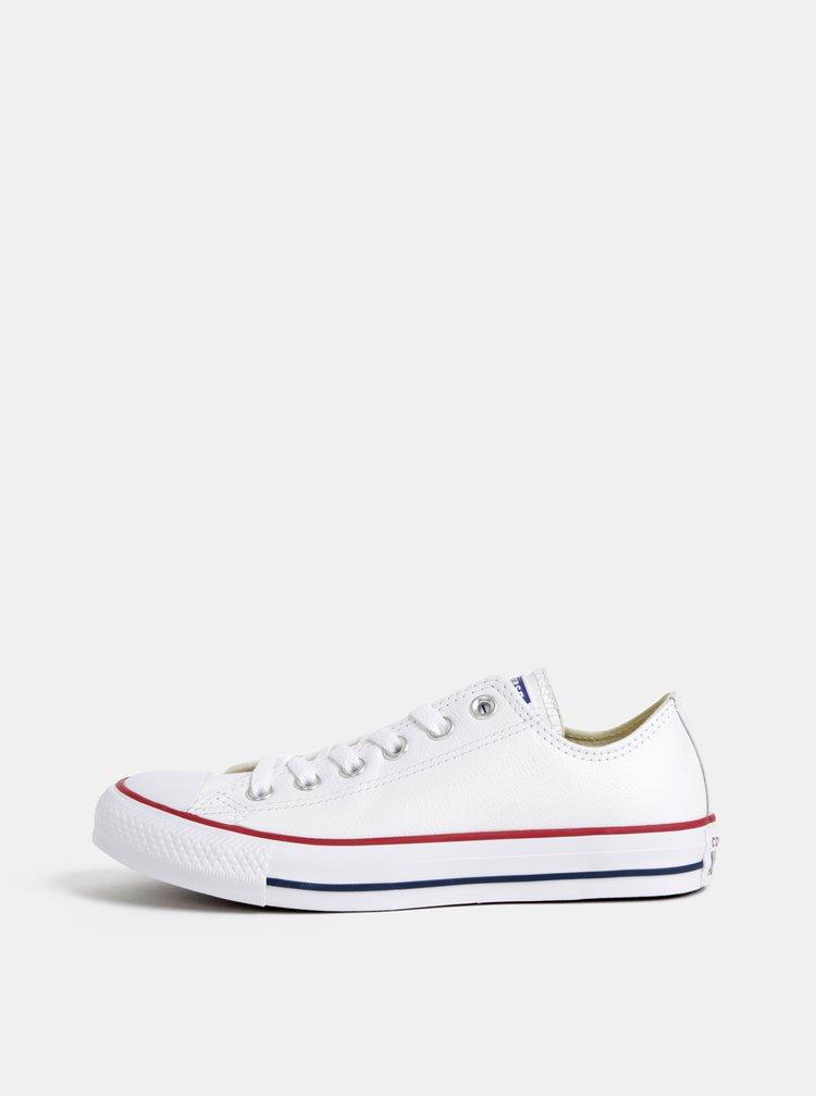 Bílé dámské kožené tenisky Converse Chuck Taylor