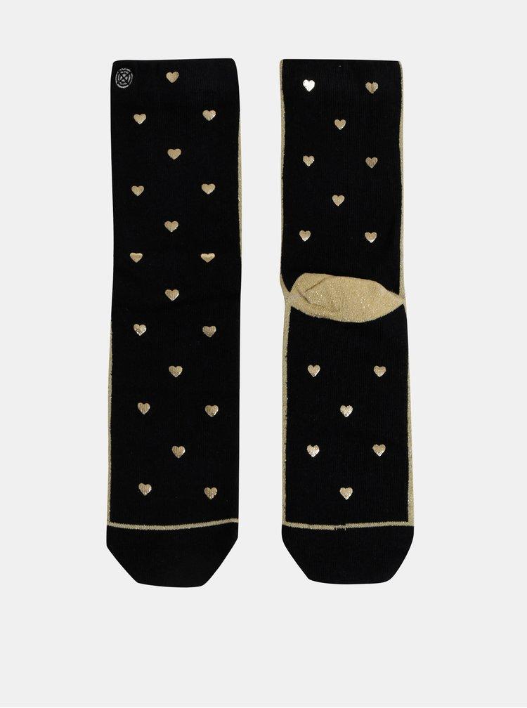 Černé dámske vzorované ponožky XPOOOS