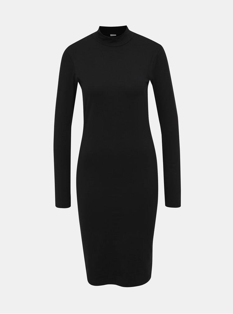 Čierne basic šaty Jacqueline de Yong Yava