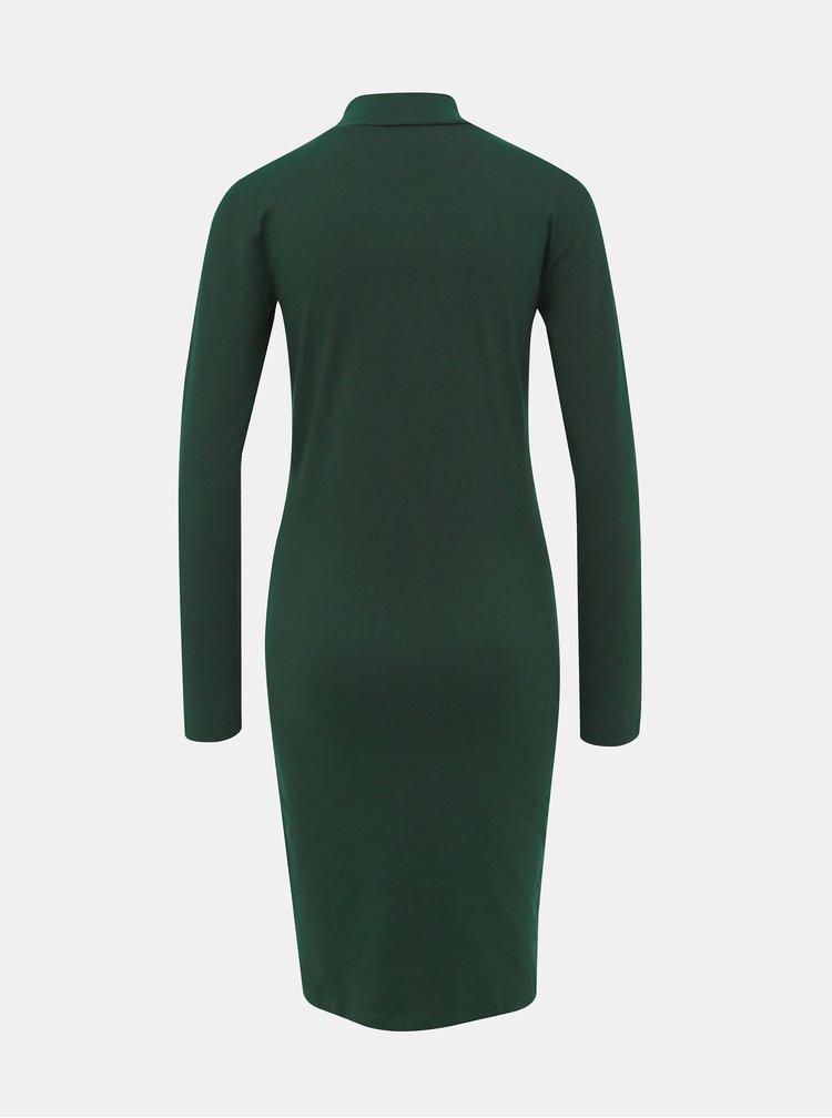 Tmavě zelené basic šaty Jacqueline de Yong Yava