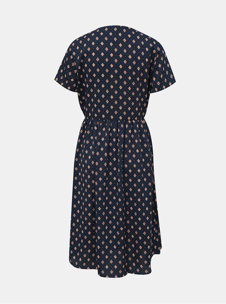 Tmavomodré vzorované šaty Jacqueline de Yong Molly