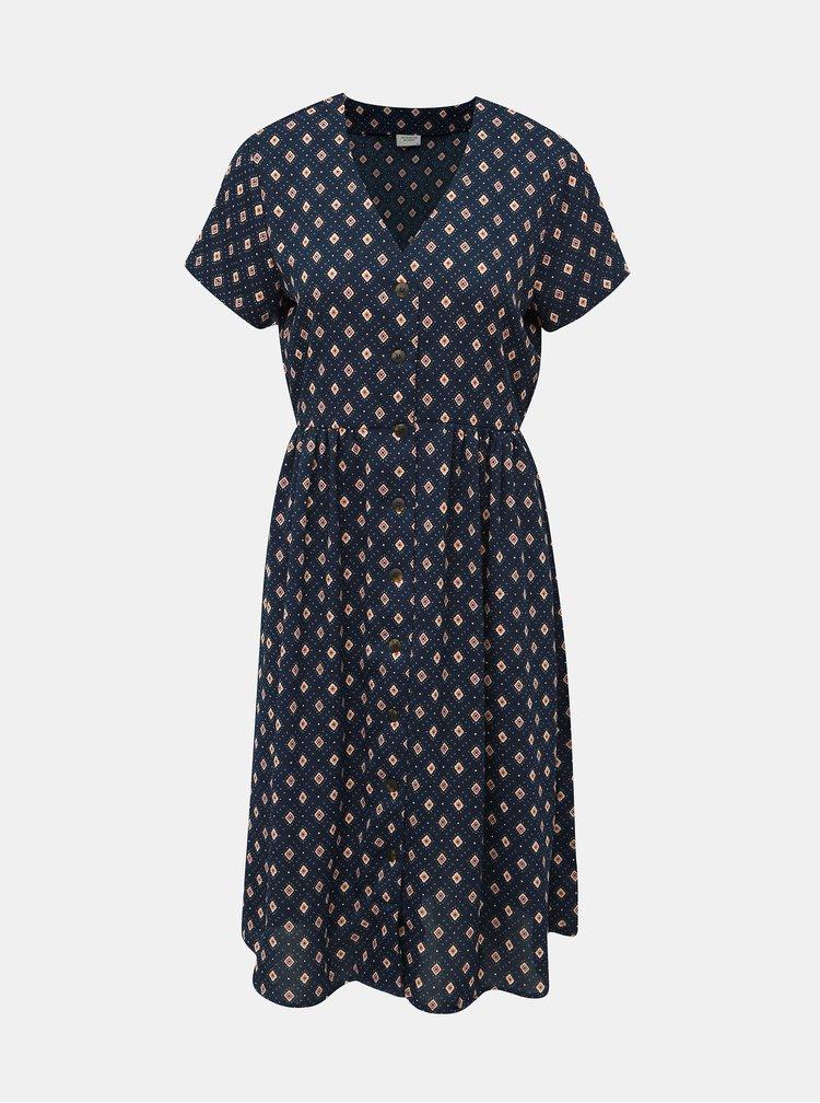 Tmavě modré vzorované šaty Jacqueline de Yong Molly