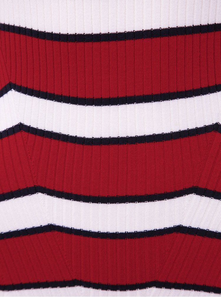 Bielo-červený dámsky pruhovaný sveter Alcott