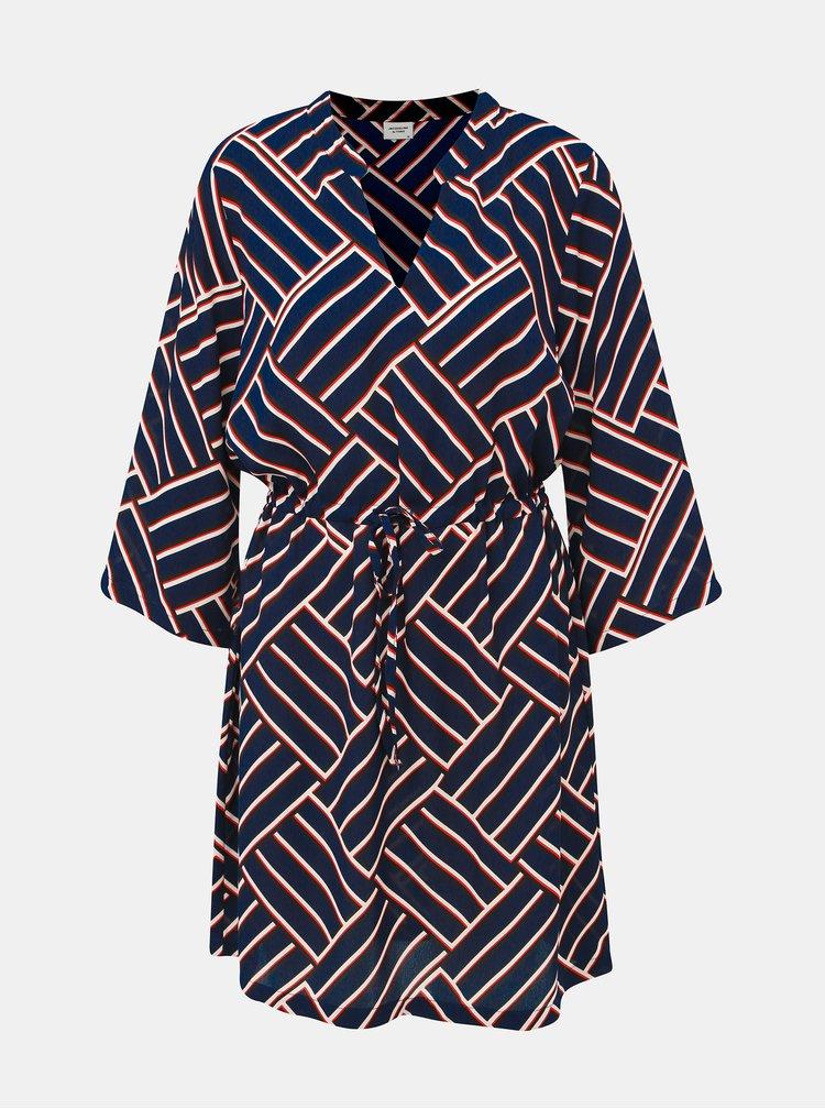 Tmavomodré vzorované šaty Jacqueline de Yong Win