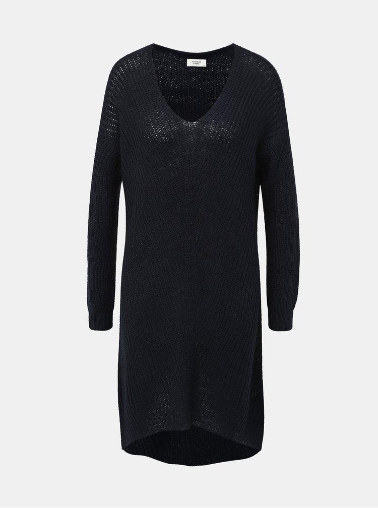 Tmavomodré svetrové šaty Jacqueline de Yong Tammy