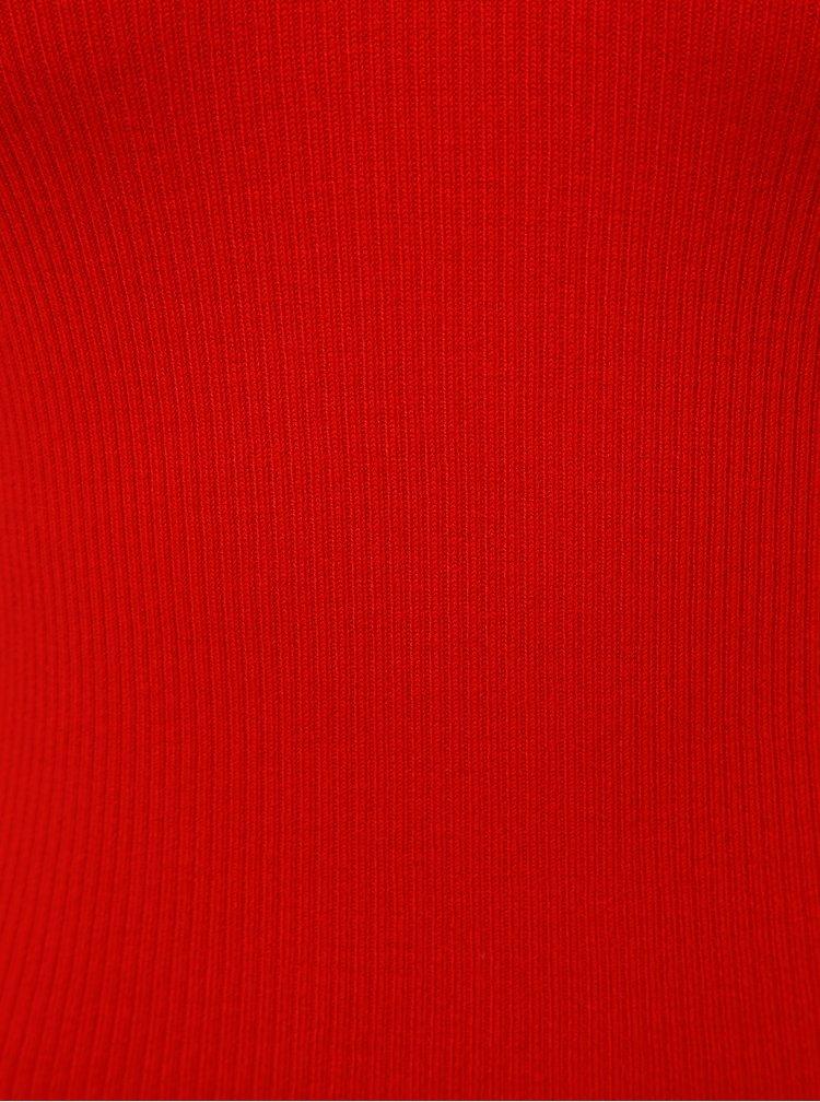 Červený rebrovaný sveter Jacqueline de Yong Pippa