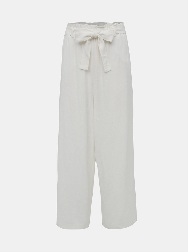 Biele ľanové culottes ONLY Charlie