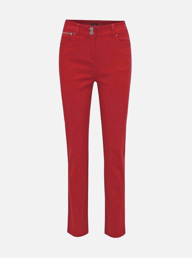 Červené straight fit džíny M&Co