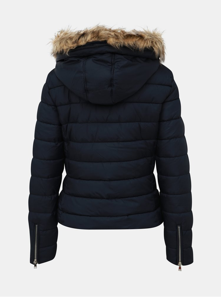 Tmavomodrá dámska zimná bunda Alcott