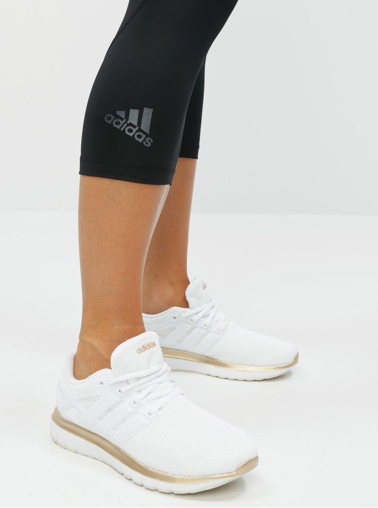 Čierne dámske funkčné 3/4 legíny adidas Performance