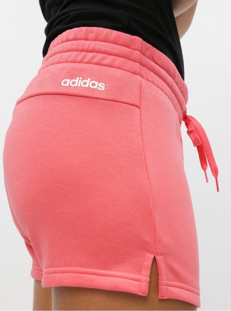 Rúžové dámske kraťasy adidas CORE