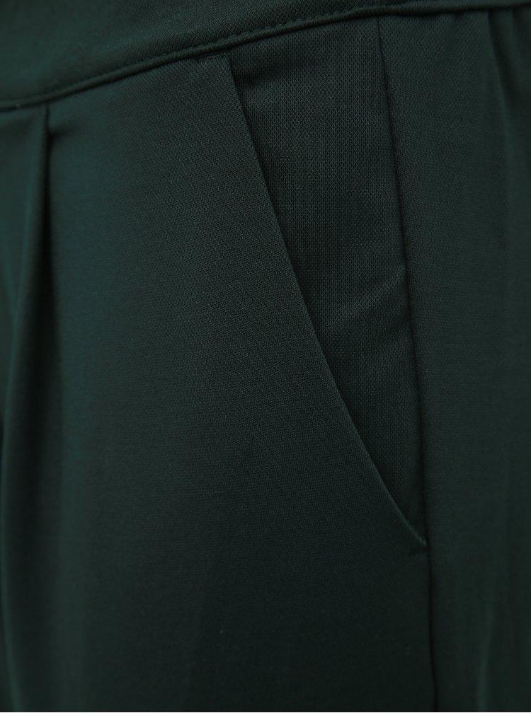 Tmavozelené skrátené nohavice Jacqueline de Yong Darling