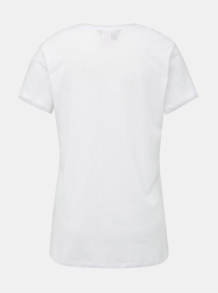 Bílé dámské pyžamové tričko Lauren Ralph Lauren