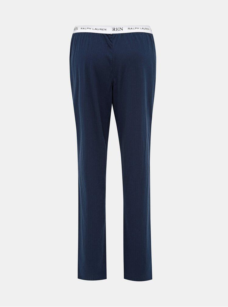 Tmavomodré dámske pyžamové nohavice Lauren Ralph Lauren