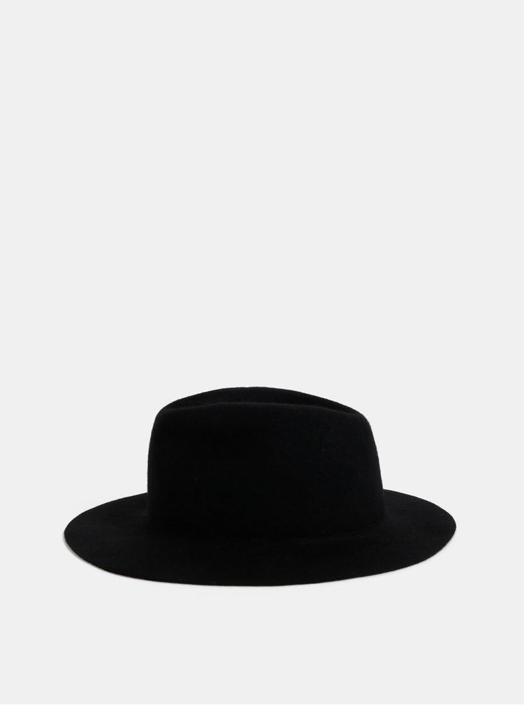Čierny vlnený klobúk Pieces Hiranu