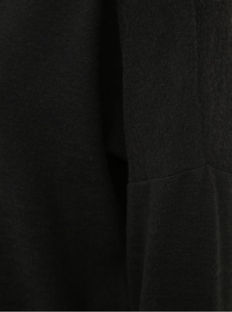 Čierne svetrové šaty s rolákom Noisy May City