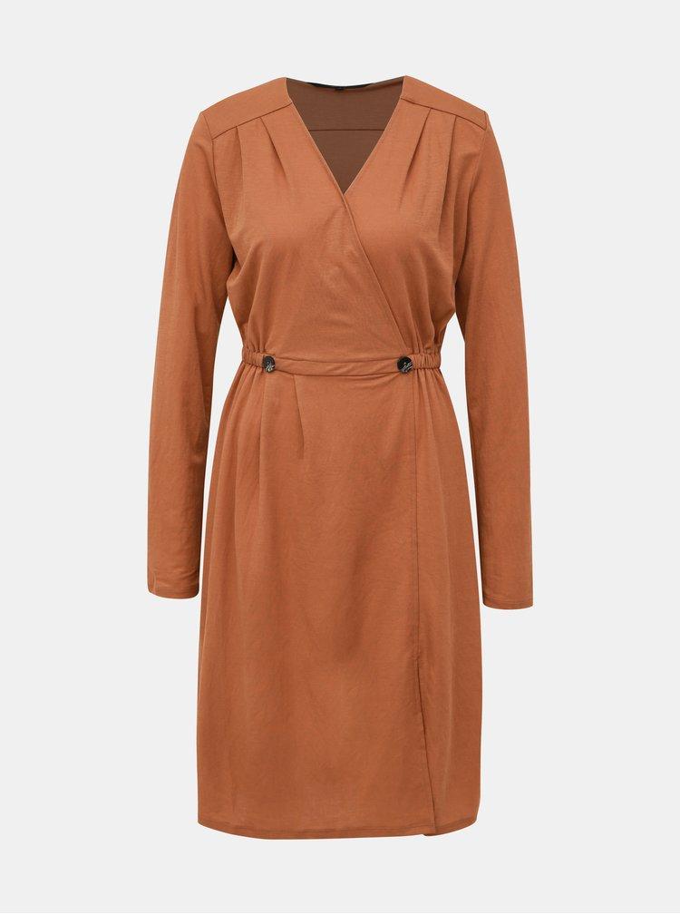 Hnedé šaty VERO MODA Cam