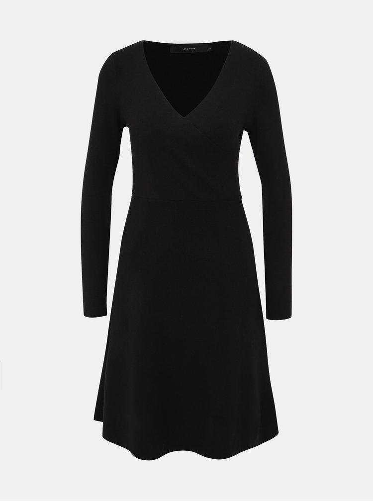 Černé svetrové šaty VERO MODA Nancy