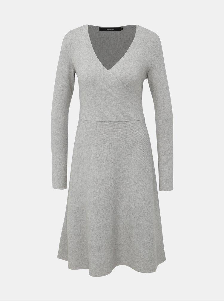Šedé svetrové šaty VERO MODA Nancy