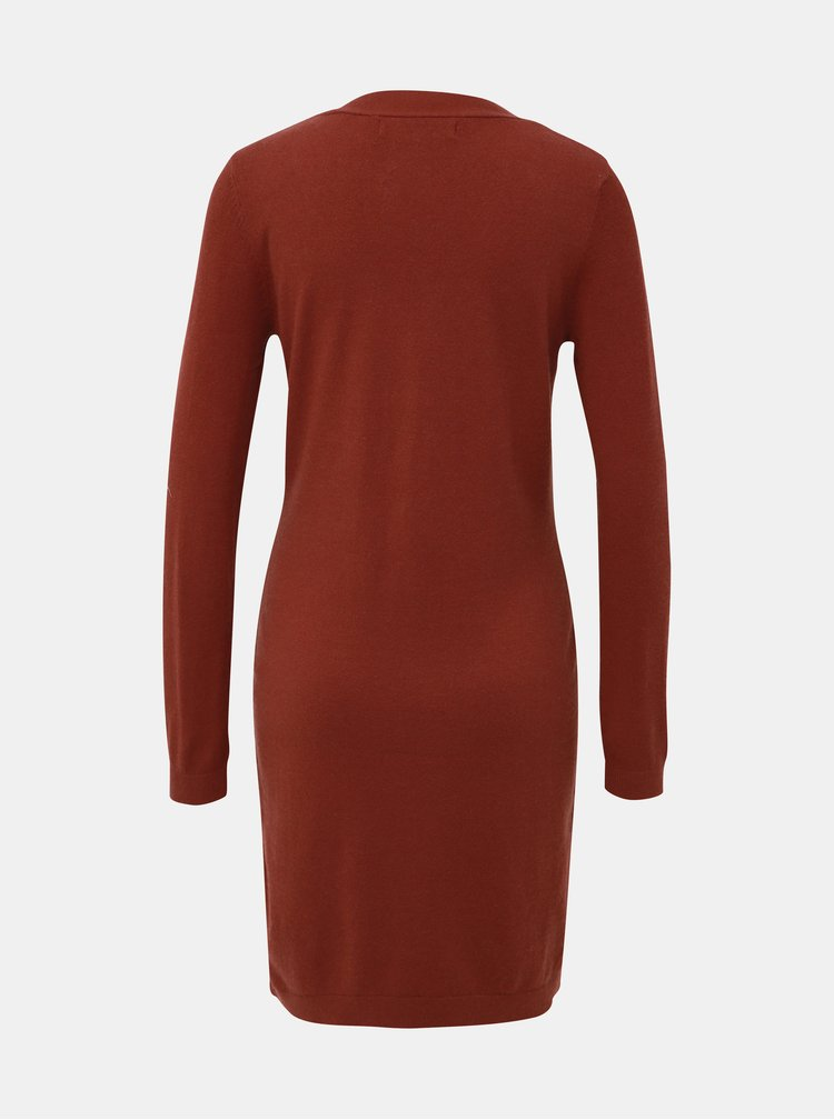 Hnědé svetrové šaty VERO MODA Chip