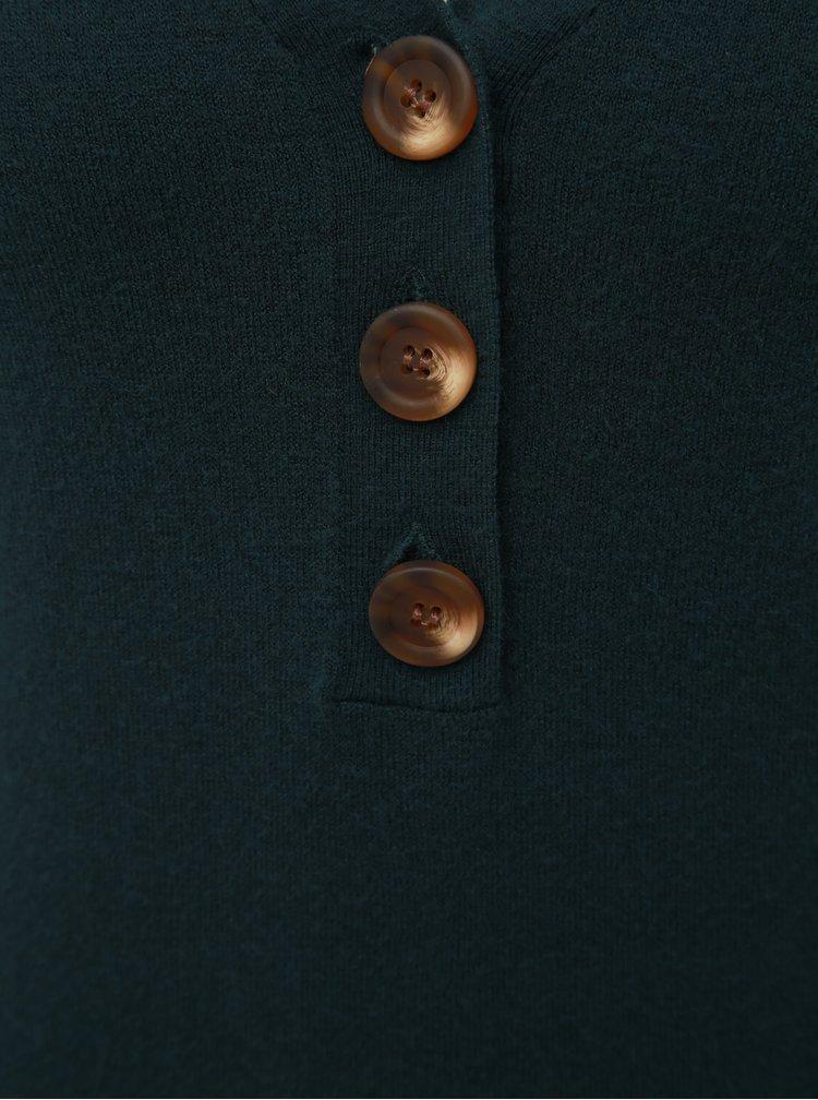Tmavozelené svetrové šaty VERO MODA Chip