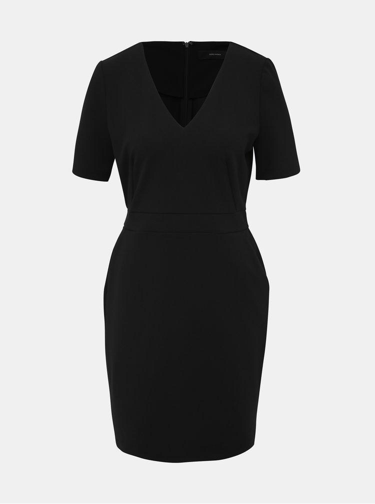Černé pouzdrové šaty VERO MODA Corine