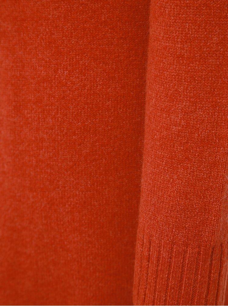 Červené svetrové šaty VILA Viril