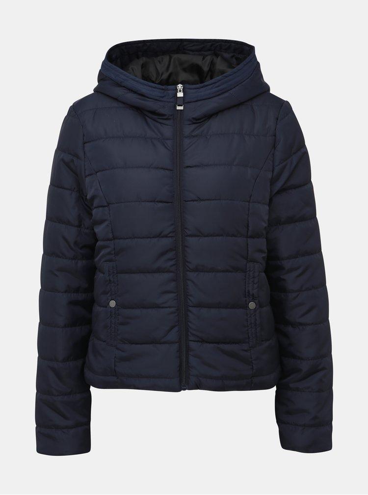 Tmavomodrá zimná prešívaná bunda VERO MODA Simone