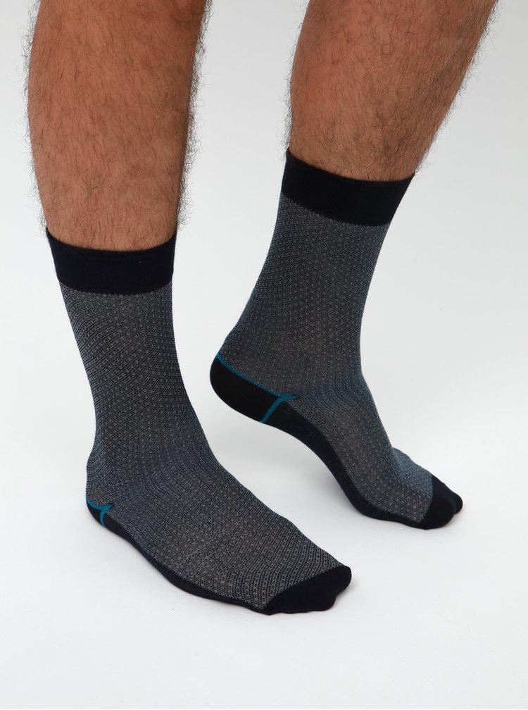 Sada troch párov ponožiek v šedej a modrej farbe Burton Menswear London