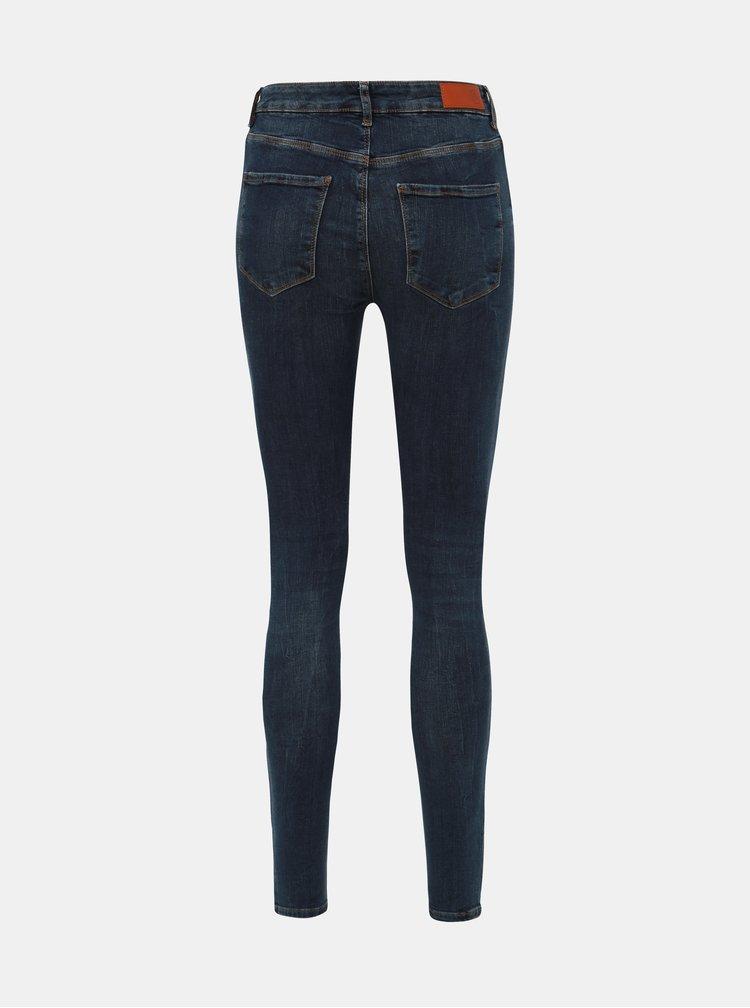 Tmavě modré slim fit džíny VERO MODA Seven