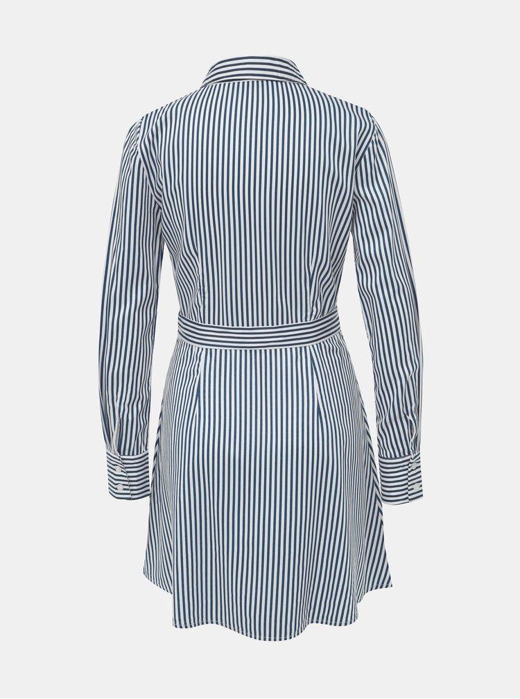 Bielo-modré pruhované košeľové šaty TALLY WEiJL