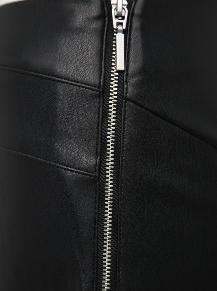 Čierne koženkové nohavice TALLY WEiJL