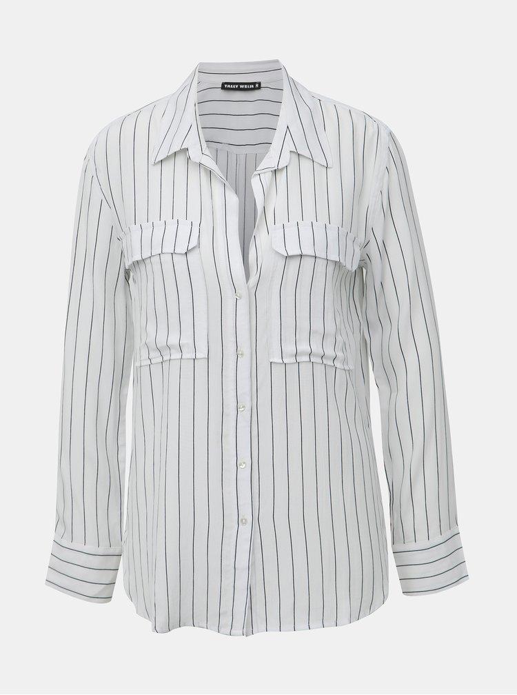Biela pruhovaná košeľa TALLY WEiJL