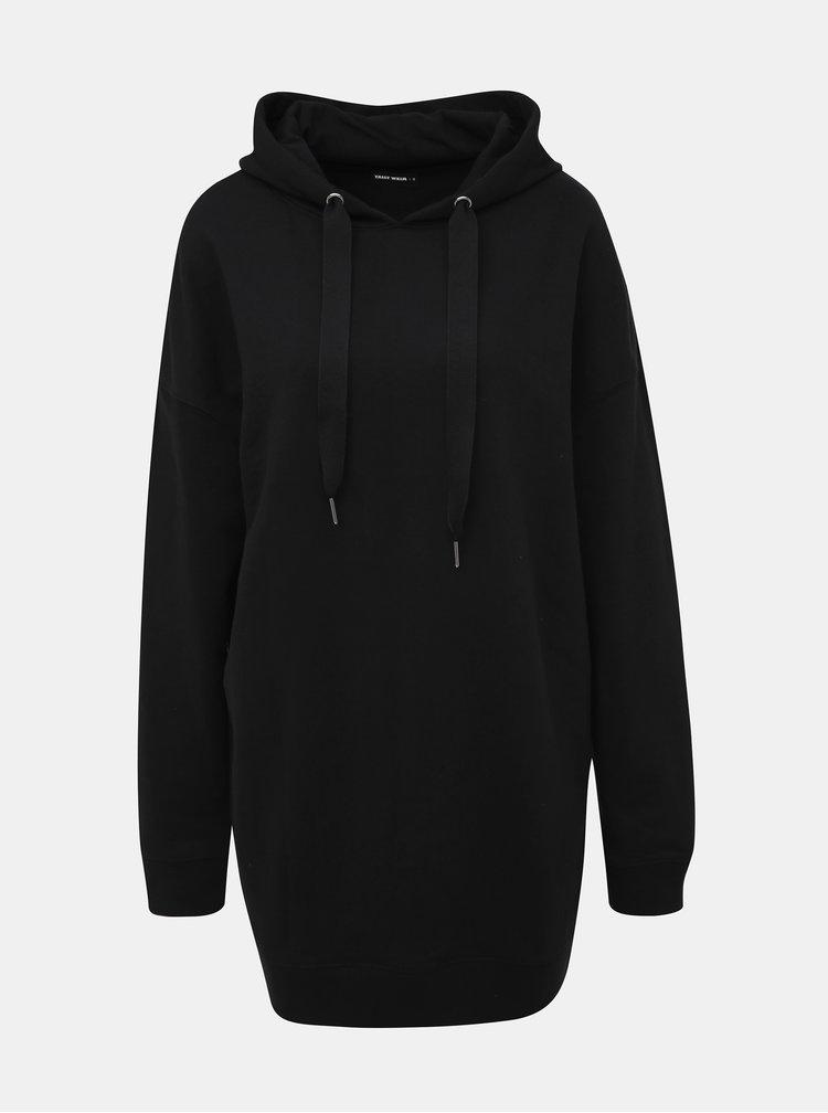 Černé mikinové šaty TALLY WEiJL
