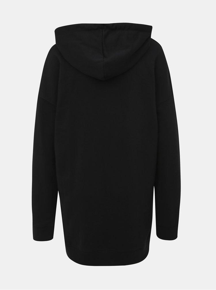 Čierne mikinové šaty TALLY WEiJL